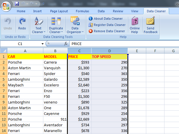Excel Data Cleaner Professional