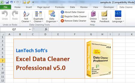 Excel Data Cleaner Professional full screenshot