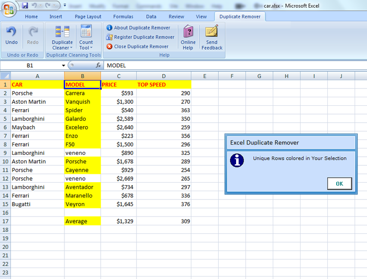 how to find duplicate cells in excel sheet