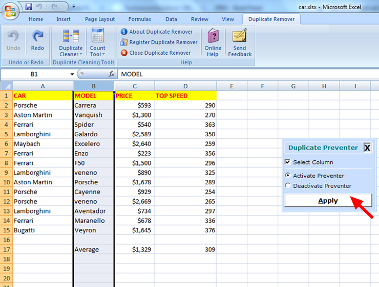 how to delete duplicates in excel online